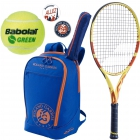 Babolat Roland Garros Pure Aero 26 Junior Racquet w/ Club Backpack + Dampeners + Green Transition Ba - Babolat Roland Garros Tennis Racquets, Bags and Accessories