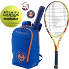 Babolat Roland Garros Pure Aero 26 Junior Racquet w/ Club Backpack + Dampeners + RG All Court Tennis - Babolat Roland Garros Tennis Racquets, Bags and Accessories