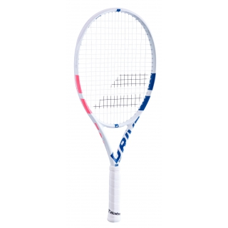 Babolat Pure Drive Junior 25 Inch Tennis Racquet (White/Pink/Blue)