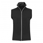 Sofibella Women's SofiFleece Tennis Vest (Black) - Sofibella Women's Tennis Jackets and Pants