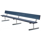 15' Permanent Bench w/o Back - Tennis Benches 7.5+ Feet