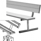 15' Permanent Bench w/ Back - Tennis Benches 7.5+ Feet