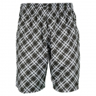 Yonex Men's Wawrinka Australian Open Tennis Shorts (Plaid Black) - Tennis Apparel
