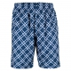 Yonex Men's Wawrinka Australian Open Tennis Shorts (Plaid Blue) - Men's Shorts