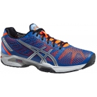 Asics Men's GEL-Solution Speed 2 Tennis Shoes (Blue/ Flash Orange/ Silver) - Asics Gel-Solution Speed Tennis Shoes