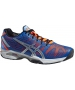 Asics Men's GEL-Solution Speed 2 Tennis Shoes (Blue/ Flash Orange/ Silver) - Asics