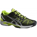 Asics Men's GEL-Solution Speed 2 Tennis Shoes (Onyx/ Flash Yellow/ Silver) - Men's Tennis Shoes