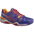 Asics Women's Gel Resolution 6 Shoes (Lavender/ Coral/ Nectarine) - Asics Tennis Shoes