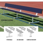 15' Permanent Bench w/ Back (Assorted Colors) - Tennis Equipment Types