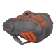 Wilson Burn 15-Pack Tennis Bag (Grey/Orange) - 9 and 12+ Racquet Tennis Bags