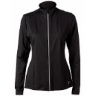 Sofibella Women's Peplum Tennis Jacket (Black) - Sofibella Women's Tennis Jackets and Pants