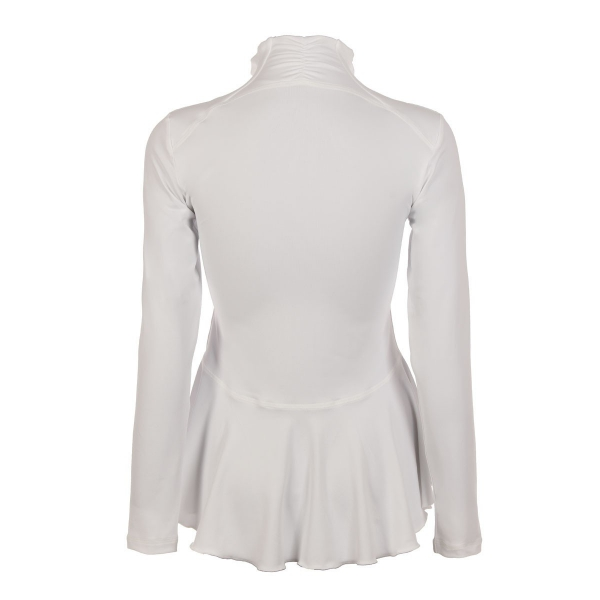 Sofibella Women's Peplum Tennis Jacket (White)