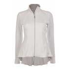 Sofibella Women's Peplum Tennis Jacket (White) - Sofibella Women's Tennis Jackets and Pants