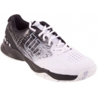 Wilson Men's Kaos Comp Tennis Shoes (Black/White/Pearl) - Lightweight Tennis Shoes