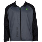 Prince Men's Warm-up Jacket (Grey/Black) - Men's Tennis Apparel