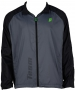 Prince Men's Warm-up Jacket (Grey/Black) - Men's Outerwear Warm-Ups Tennis Apparel