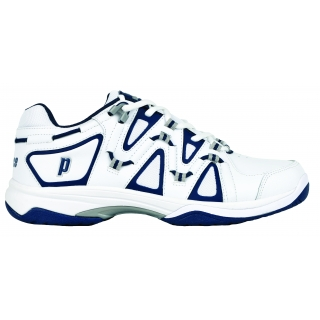 Prince Men's Scream 4 Tennis Shoe (White/Navy/Silver)