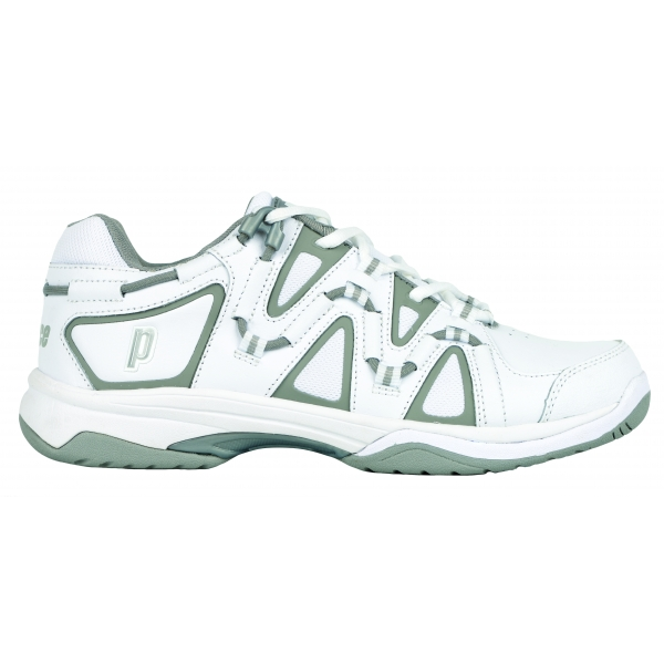 Prince Women's Scream 4 Tennis Shoe (White/Silver)