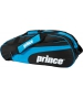 Prince Club 6 Pack Tennis Bag (Black/ Blue) - Prince Tennis Bags