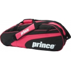 Prince Club 6 Pack Tennis Bag (Black/ Pink) - Prince Tennis Bags
