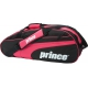 Prince Club 6 Pack Tennis Bag (Black/ Pink) - MAP Products