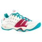 Prince Women's T22 Tennis Shoe (White/ Aqua/ Pink) - Prince Tennis Shoes