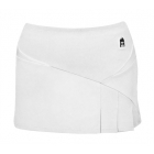 DUC Compete Women's Skirt w/ Power Tights (White) - DUC Team Tennis Apparel
