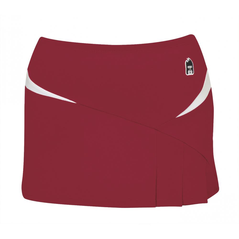 DUC Compete Women's Skirt w/ Power Tights (Cardinal)