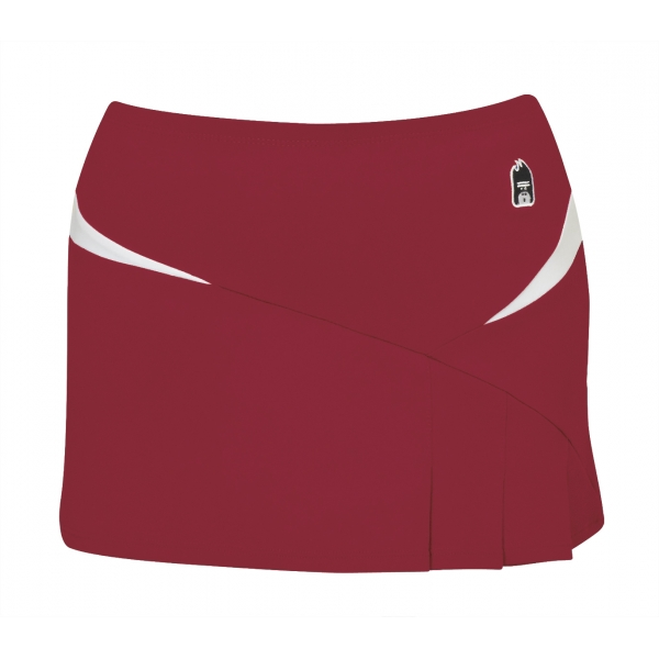 DUC Compete Women's Skirt w/ Power Tights (Cardinal)