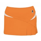 DUC Compete Women's Skirt w/ Power Tights (Orange) - Women's Skirts Tennis Apparel