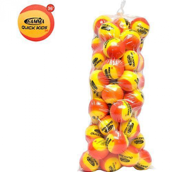 Gamma Quick Kids 36 Red Foam Tennis Balls (60 Ball Bag)