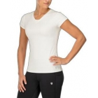 K-Swiss Women's Pace Cap Sleeve Tennis Top (White/Mercury) - Shop the Best Selection of Tennis Apparel