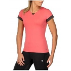 K-Swiss Women's Pace Cap Sleeve Tennis Top (Calypso Coral) - Shop the Best Selection of Tennis Apparel