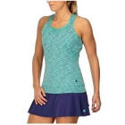K-Swiss Women's Eternity Tennis Tank (Space Dye Green/Brook Green) - Women's Tank Tops