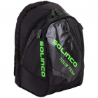 Solinco Tour Tennis Backpack (Black/Neon Green) -