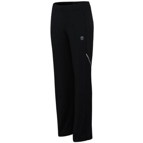 K-Swiss Women's Piped Pant (Black/ White)
