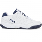 Fila Men's Double Bounce Pickleball Court Shoes (WHT/FNVY/WHT) - Fila Tennis Shoes
