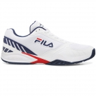 Fila Men's Volley Zone Pickleball Court Shoes (WHT/FNVY/FRED) - Fila Tennis Shoes