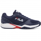 Fila Men's Volley Zone Pickleball Court Shoes (FNVY/FRED/WHT) - Fila Tennis Shoes