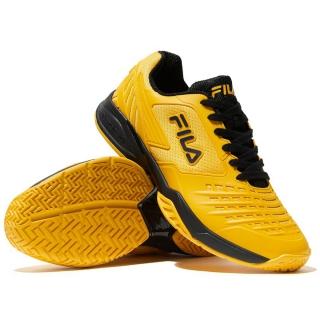 Fila Men's Axilus 2 Energized Tennis Shoes (Gold Fusion/Black)