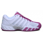 K-Swiss Women's Bigshot Light 2.5 Tennis Shoes (White/Very Berry) - Lightweight Tennis Shoes