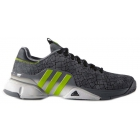 Adidas Men's Barricade 2016 Hannibal Tennis Shoes (Grey/Solar Green) - Adidas Barricade Tennis Shoes
