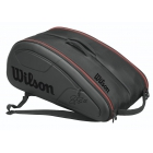Wilson Federer DNA 12 Pack Tennis Bag (Black) - Wilson Federer Tennis Bags