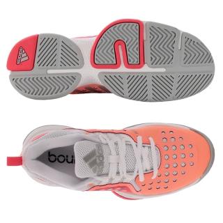 71413f3683e85 Adidas Women s Barricade Classic Bounce Tennis Shoes (Glow  Silver  Red)