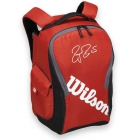 Wilson Federer Team III Back Pack Tennis Bag (Red/ Black) - Wilson