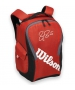 Wilson Federer Team III Back Pack Tennis Bag (Red/ Black) - Wilson Tennis Bags