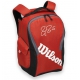 Wilson Federer Team III Back Pack Tennis Bag (Red/ Black) - Federer