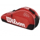 Wilson Federer Team III Triple Tennis Bag (Red/ Black/ White) - Federer