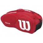 Wilson Team II Red 6 Pack Tennis Bag (Red/ White) - Tennis Racquet Bags