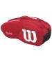 Wilson Team II Red 6 Pack Tennis Bag (Red/ White) - Team Collection